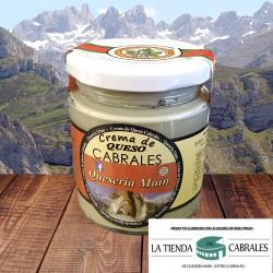 Crema de queso Cabrales con leche de vaca - tarro 200 gramos